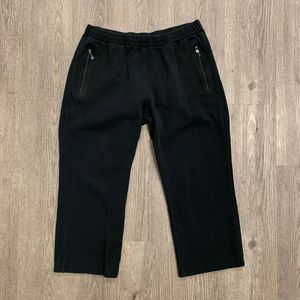 Burberry Sport Sweatpants Black Elastic Waist Tie